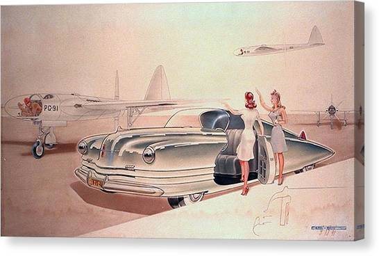 1941 Chrysler Concept Styling Rendering Gil Spear Canvas Print by ArtFindsUSA