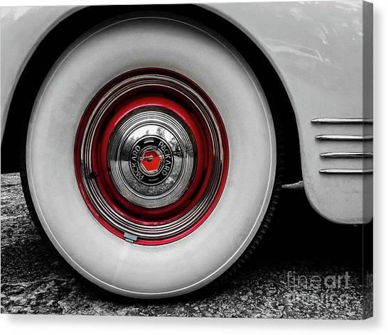 1941 Packard Convertible Wheels Canvas Print