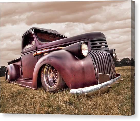 1941 Rusty Chevrolet Canvas Print