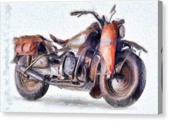 1942 Harley Davidson, Military, 750cc Canvas Print