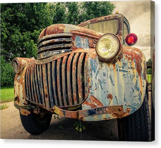 Classic Chevy Truck Canvas Print - 1946 Chevy Work Truck by Jon Woodhams
