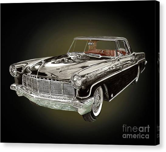 Canvas Print - 1956 Continental M K I I by Jack Pumphrey