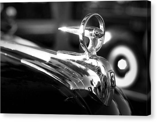 1946 Ford V8 Hood Ornament Canvas Print