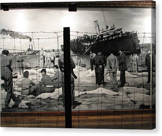Holocaust Museum Canvas Print - 1947 Palestine Israel by Christopher Kull