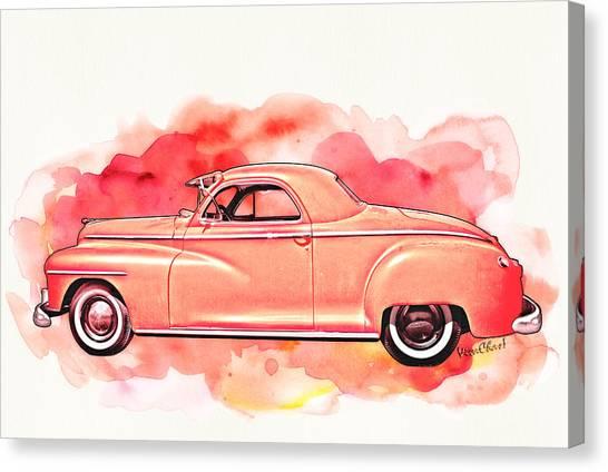 1948 Dodge Coupe As Seen In Luckenbach Texas By Vivachas Canvas Print