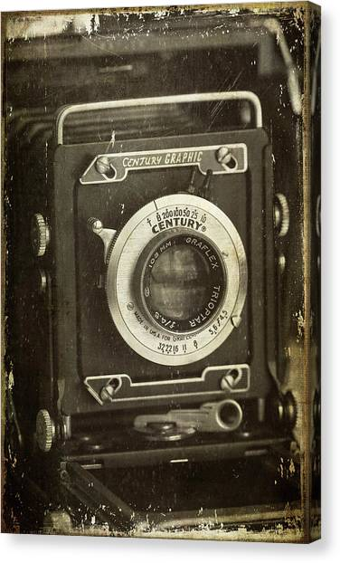 1949 Century Graphic Vintage Camera Canvas Print