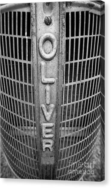 1949 Oliver Tractor Grill Canvas Print