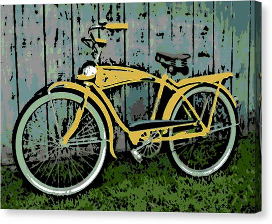 1949 Shelby Donald Duck Bike Canvas Print