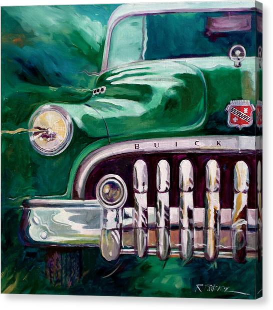 1950 Buick Roadmaster Canvas Print by Ron Patterson