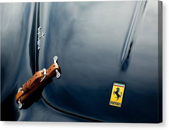 1950 Ferrari Hood Emblem Canvas Print