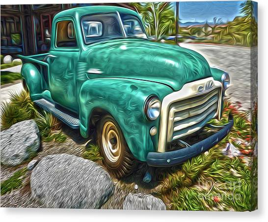 1950s Gmc Truck Canvas Print