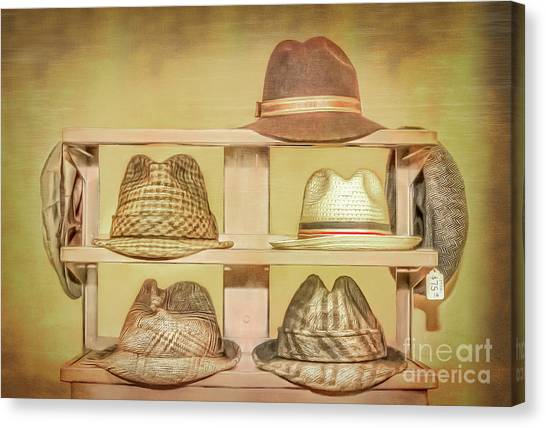 1950s Hats Canvas Print