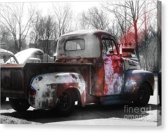 1950s Truck  Patina  Canvas Print by Steven Digman