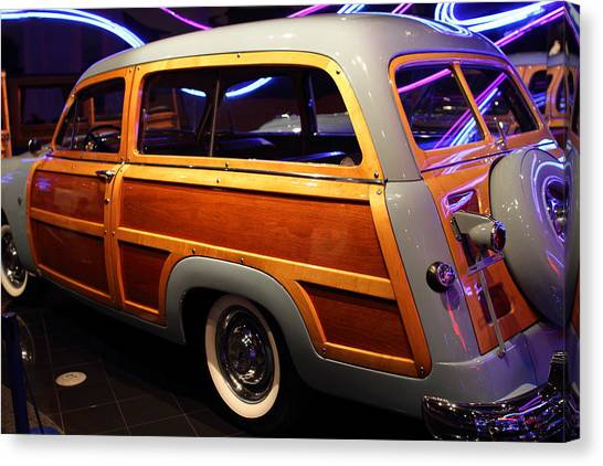 1951 Ford Country Squire - 7d17485 Canvas Print by Wingsdomain Art and Photography