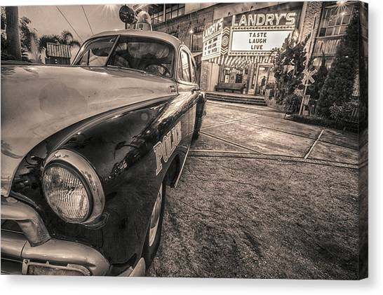 1952 Chevy Black And White Canvas Print