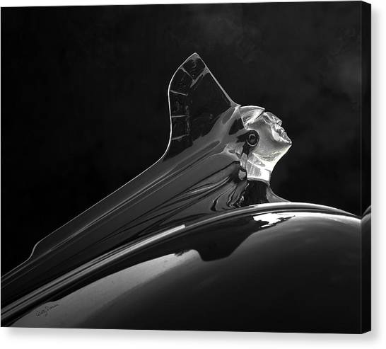 1952 Pontiac Catalina Chieftan Lighted Hood Ornament 3 Canvas Print