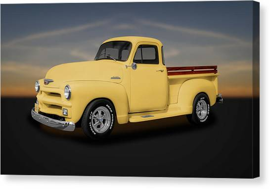 1954 Chevrolet 3100 Series Pickup Truck  -  54chtk544 Canvas Print