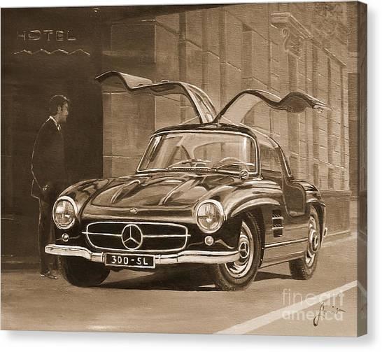 1954 Mercedes Benz 300 Sl  In Sepia Canvas Print