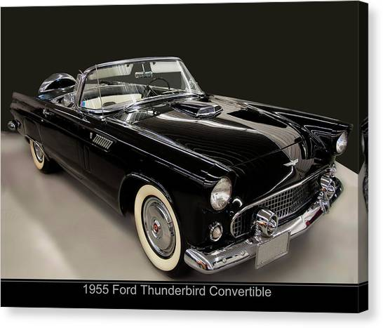 1955 Ford Thunderbird Convertible Canvas Print