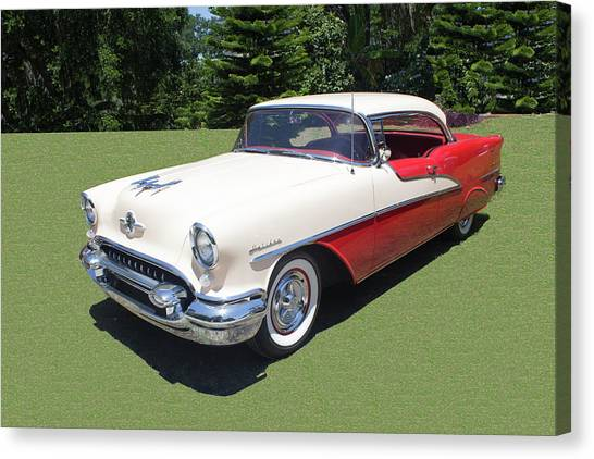 1955 Oldsmobile Super 88 Holiday Canvas Print