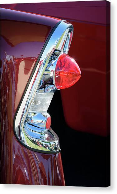 Turn Signals Canvas Print - 1956 Chevy Tail Light by James Barber