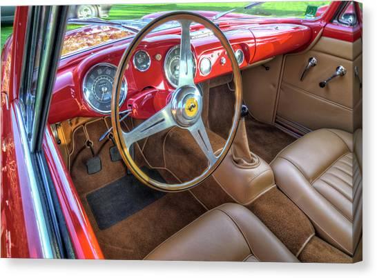 John Adams Canvas Print - 1956 Ferrari 250 Gt Boano Alloy Interior by John Adams