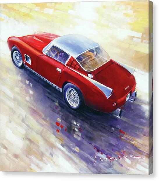 Ferrari Canvas Print - 1956 Ferrari 410 Superamerica Scaglietti Series by Yuriy Shevchuk