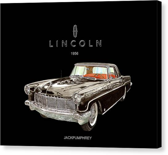 Canvas Print - 1956 Lincoln Continental M K I I  by Jack Pumphrey