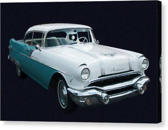 1956 Pontiac Star Chief Digital Oil Canvas Print