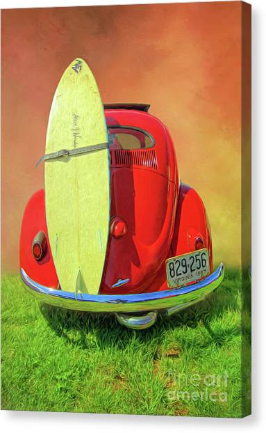 1957 Beetle Oval Canvas Print