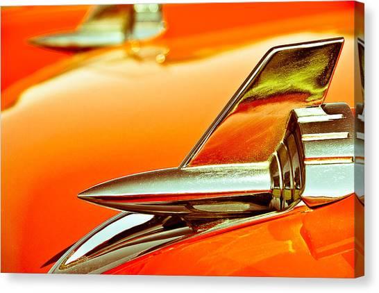 1957 Chev Bel Air Hood Fins Canvas Print