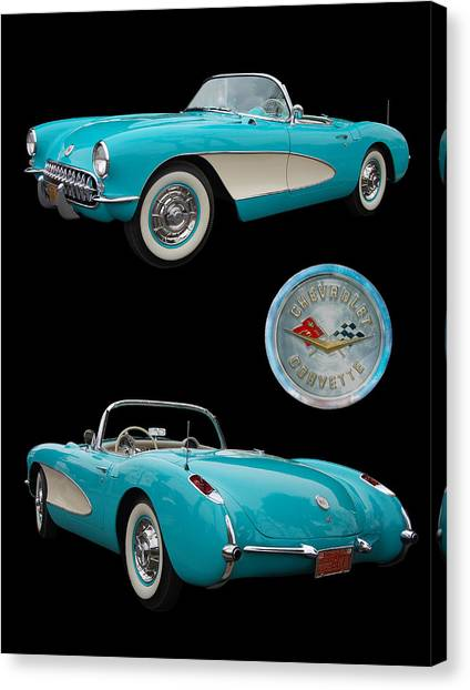 1957 Chevrolet Corvette Canvas Print