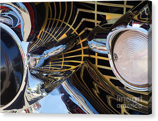 1957 Chevy Bel Air Grill Abstract 1 Canvas Print