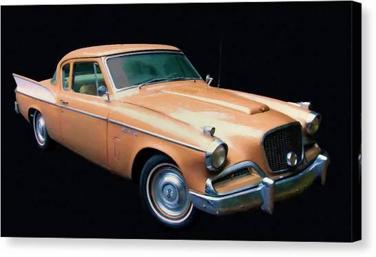 1957 Studebaker Golden Hawk Digital Oil Canvas Print