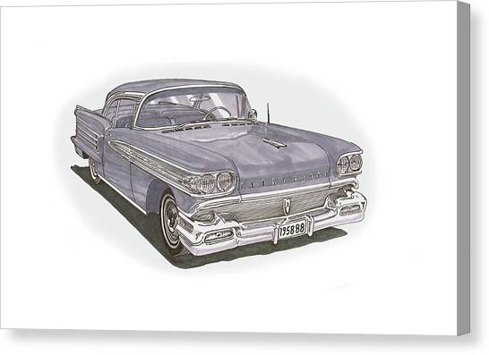 Canvas Print - 1958 Oldsmobile 88 Hard Top Convertible by Jack Pumphrey