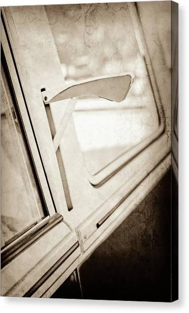 Turn Signals Canvas Print - 1958 Volkswagen Vw Bus Turn Signal -0278s by Jill Reger