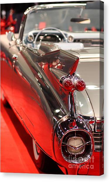 1959 Cadillac Convertible . Wing View Canvas Print