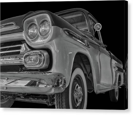 1959 Chevrolet Apache - Bw Canvas Print