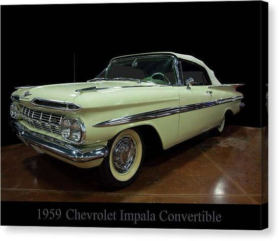 1959 Chevy Impala Convertible Canvas Print