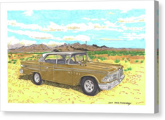 Canvas Print - 1959 Edsel Corsair by Jack Pumphrey