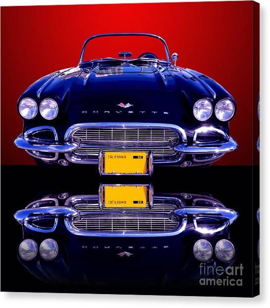 1961 Chevy Corvette Canvas Print