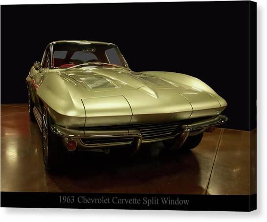 Canvas Print featuring the photograph 1963 Chevrolet Corvette Split Window by Chris Flees