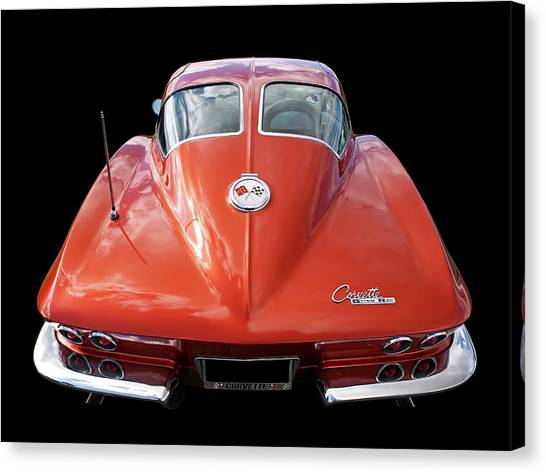1963 Corvette Stingray Split Window Rear Canvas Print