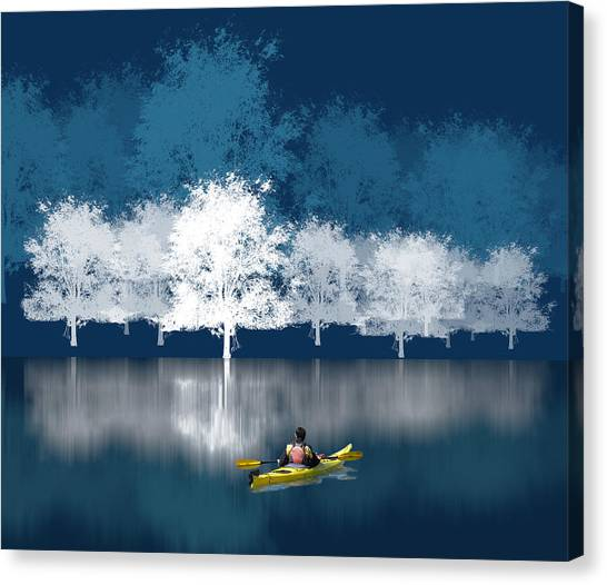 Kayaks Canvas Print - 1964 by Peter Holme III