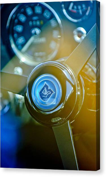 Martin Canvas Print - 1965 Aston Martin Db5 Coupe Rhd Steering Wheel by Jill Reger