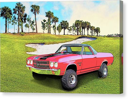 1970 Chevy El Camino 4x4 Not 2nd Generation 1964-1967 Canvas Print