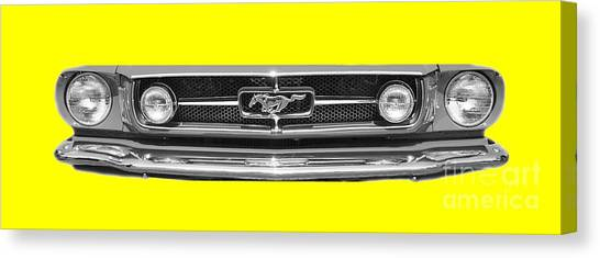 Canvas Print - 1965 Mustang Grilled Tee by Jack Pumphrey