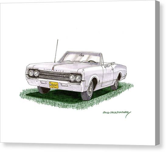Canvas Print - 1965 Oldsmobile Dynamic 88 Convertible by Jack Pumphrey