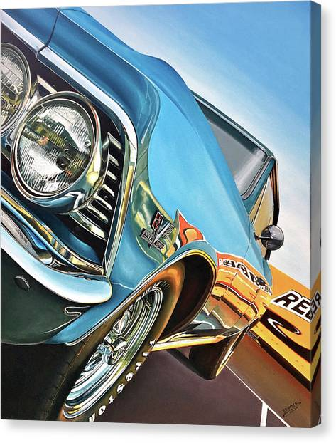 1966 Chevelle Canvas Print by Branden Hochstetler