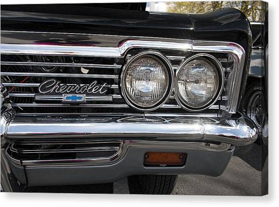 1966 Chevy Impala Chrome Canvas Print